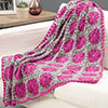 At Home -- Carnation Throw