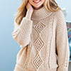 Top-Down Aran Pullover