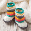 A Touch of Fair Isle Mukluk Booties